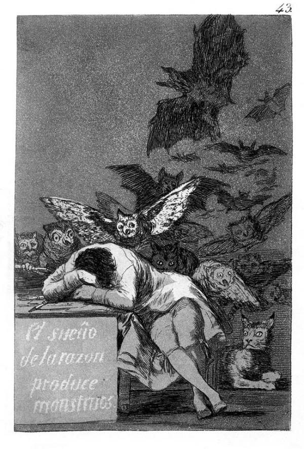 "Goya, gravura da série ""Los Caprichos"", 1799"