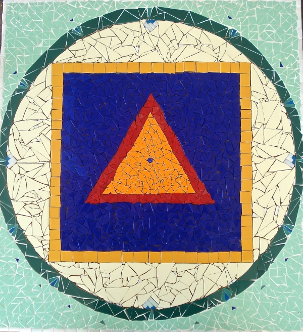 Yantra de Babaji: mosaico de Marcela Micheli Arantes