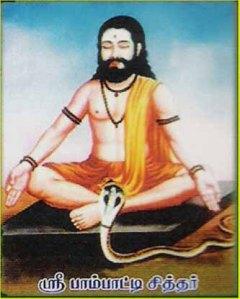 O Siddha Paambati: imagem popular, Tâmil Nadu, Índia