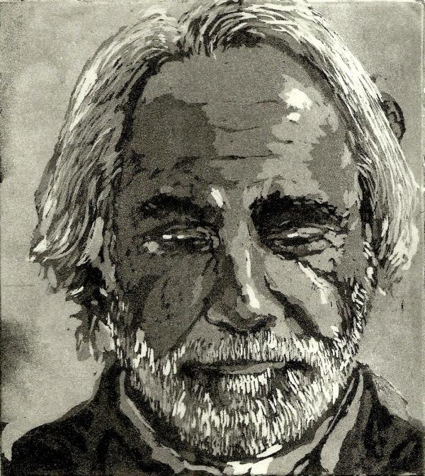 Gravura de Julia Goeldi, água tinta e lavis sobre papel, 2014