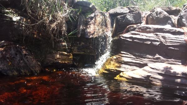 Detalhe da Cachoeira das Cadeirinhas.